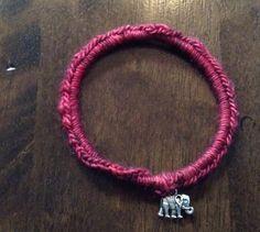 crochet bracelet by echoinggreen on Etsy