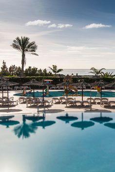Kids Pool and Ocean. Sheraton Fuerteventura Beach, Golf & Spa Resort Canary Isle.