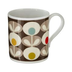 Orla Kiely Multi Oval Print Mug-- just love her aesthetic        Microwave / Dishwasher Safe    These mugs are designed and made in the UK.        **Please Note:    Mugs cannot be returned or exchanged.