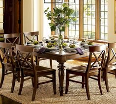 Wooden Dining Set, by Pottery Barn