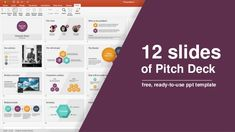12 slides of Pitch Deck - free, ready-to-use ppt template #pitchdeck #freeslides #freeresources #ppt #powerpoint #template #freedownload #presentation #slides #freebie
