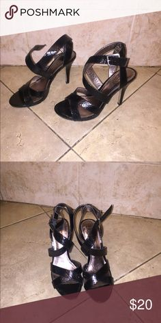NY AND COMPANY HEELS Ny&Company black patient leather. Used a few times, but still look new. NY Collection Shoes Heels