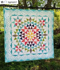 ❤️😍 Designed using with ・・・ Finally delivered this commissioned baby quilt. Designed in Quilt Baby, Baby Girl Quilts, Girls Quilts, Star Quilts, Scrappy Quilts, Quilt Blocks, Quilting Projects, Quilting Designs, Kaleidoscope Quilt