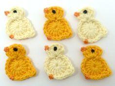 Aplique de Pássaros em Crochê - /   Apply at Birds upon Crocheting -