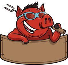 Frais de porc au barbecue et bannière
