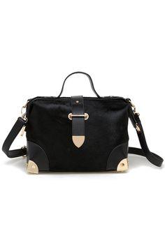 Horse Hair High-capacity Black Bag [AB1728] - $131.99 :  romwe.com #Romwe
