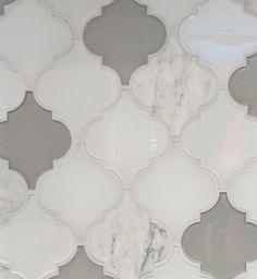 Clover Arabesque Blanco Mosaic Glass Tile In 2019 Mosaic