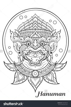 Find Monkey Thai Outline Illustrator stock images in HD and millions of other royalty-free stock photos, illustrations and vectors in the Shutterstock collection. Tattoo Khmer, Cambodian Tattoo, Cambodian Art, Thai Tattoo, Thailand Tattoo, Thailand Art, Hanuman Tattoo, Sak Yant Tattoo, Tattoo Ideas