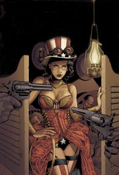 Steampunk Variant Covers For Wonder Woman #28 And Superman/Wonder Woman #5