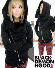 pants black punk black demon black demon hoodie hoodie black hoodie korean fashion korean punk fashion bloodycat skinny pants red emo