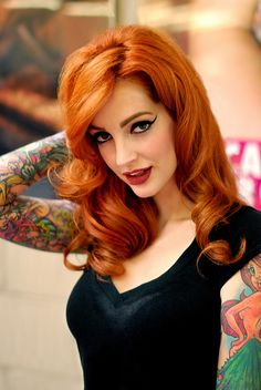 Vanessa Lake: ginger & tattooed pin-up by PierrEmmanuel, via Flickr