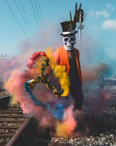 Skeleton of Color: Amazing Performance Art by Butch Locsin – Inspiration Grid Photography Gallery, Color Photography, Smoke Wallpaper, Galaxy Wallpaper, Smoke Bomb Photography, Colored Smoke, Smoke Art, Ex Machina, Halloween Photos