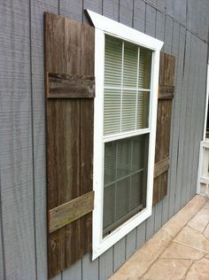 DIY Shutters for Interior or Exterior maybe for the greenhouse to make it look better