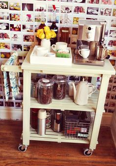 Forget the Cocktail Cart: Try an Espresso Cart Instead! Small Space Living