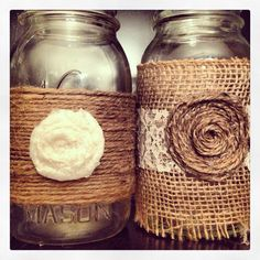Burlap, jute, and lace!