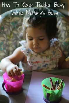Are you a busy momma? Trying to cook, clean, or run to the restroom can  be busy with a toddler. Here is how to keep toddler busy while Mommy's busy!