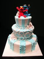 Elmo n Cookie Monster Wedding by Sliceofcake