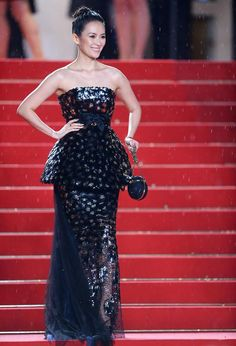 Ziyi Zhang in Chanel Couture dress at Cannes Film Festival 2013.