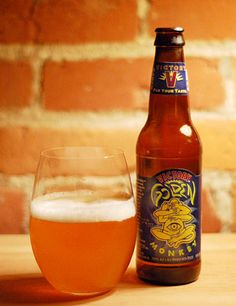Golden Monkey from Victory Brewing Company in Downington, Pennsylvania. This is a Belgian-style tripel ale. (9.5% ABV)