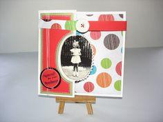 Carte faite main pliée en accordéon, réalisée à partir d'une photo ancienne noir et blanc. Cette carte est adaptable à toutes les occasions, grâce à plusieurs messages fou - 17155548