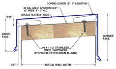 Resultado de imagen para prefinished metal coping Architectural Engineering, Stainless Steel Fasteners, Roof Detail, Architecture Details, Storage, Metal, Wall, Design, Mulches