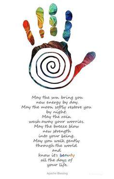 Native American Blessing - Healing Hand Symbol - Sharon Cummings Art Print by Sharon Cummings
