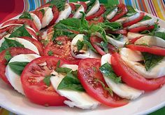 Insalata ala Caprese. My favorite salad to make whenever I get my hands on awesome tomatoes!