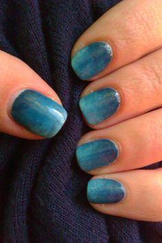 Dark blue ombre nails / Niebieskie ombre #dark #blue #cieniowanie #nails #nailart #niebieskie #ombre #paznokcie #zdobienie