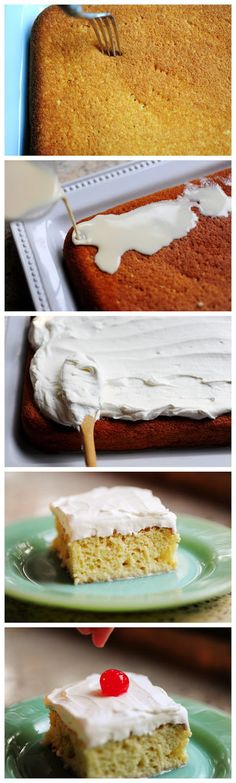Tres Leches Cake -Ingredients 1 cup All-purpose Flour 1-1/2 teaspoon Baking Powder 1/4 teaspoon Salt 5 whole Eggs 1 cup Sugar, Divided 1 teaspoon Vanilla 1/3 cup Milk 1 can Evaporated Milk 1 can Sweetened, Condensed Milk 1/4 cup Heavy Cream _____ FOR THE ICING: 1 pint Heavy Cream, For Whipping 3 Tablespoons Sugar