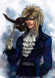 """This speedpaint is a tribute to David Bowie as Jareth, the goblins King, in the movie """"Labyrinth"""" For me, Bowie wasn´t only a great singer but also performed my favourite character from one of..."""