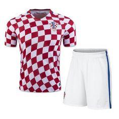 c269e7a74f3 2016 Croatia Soccer Team Home Soccer Replica Uniform (Shirt+Shorts) [E409]