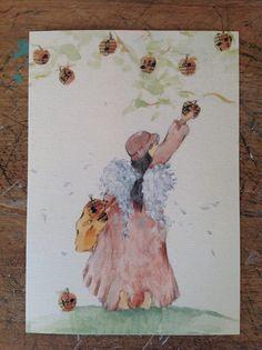 Angelo stampa dal mio acquerello originale, è 10 x 15 cm