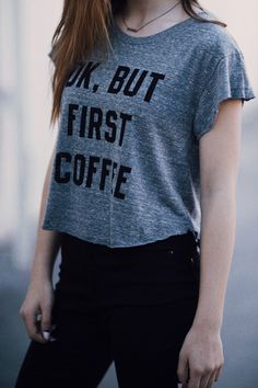 Brandy ♥ Melville | Elin But First Coffee Top - Graphics