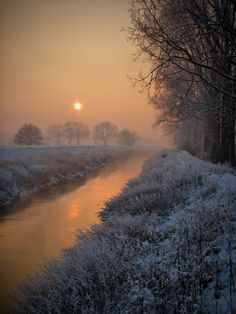 Hoarfrosted sunset by Bart Bollen on 500px