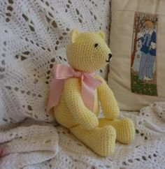10 FREE Teddy Bear Crochet Patterns: Buttercup Bear Free Crochet Pattern