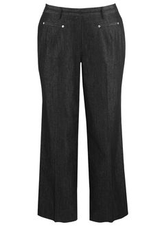 Plus Size Career Denim Straight Leg Pant | Plus Size Denim | Avenue