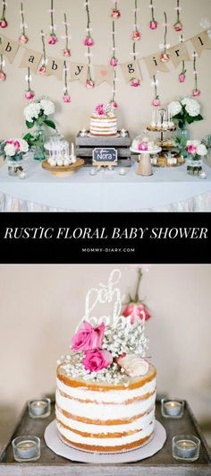 There's nothing I love more than pretty baby shower decor. What can be more beautiful and joyous than expecting a new life into the world, especially when that person is one of your dearest friends . Baby Shower, its a boy, its a girl Baby Shower Desserts, Baby Shower Brunch, Boho Baby Shower, Floral Baby Shower, Girl Shower, Baby Shower Cakes, Shower Party, Baby Shower Parties, Baby Shower Themes
