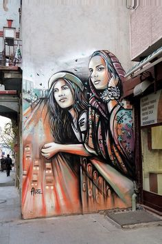 "Alice - Italian Street Artist - Istanbul - ""East and West"" - 01/2015 - 