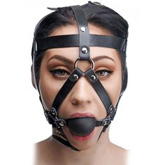 #MasterSeries #Leather #HeadHarness with #BallGag #Trap your lover in the #confines of this #secure & #attractive #head #harness, perfect for #toppingoff your #bondagescene #BDSM. http://www.dallasnovelty.com/master-series-leather-head-harness-with-ball-gag/