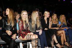 Pin for Later: Seht alle Stars bei der Berlin Fashion Week Alessandra Meyer-Woelden, Anna Hiltrop, Mirja du Mont und Franziska Knuppe bei der Modenschau von Dimitri
