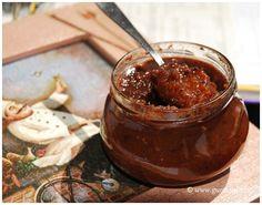 švestková křupavá zavařenina s ořechy a červeným vínem Chocolate Fondue, Desserts, Food, Tailgate Desserts, Deserts, Essen, Postres, Meals, Dessert