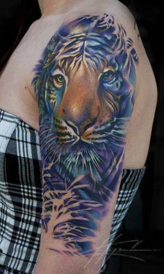 tiger tattoo by nick chaboya