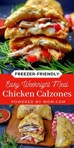 This delicious and easy Chicken Calzone Recipe is a perfect meal that everyone loves and is ideal for making ahead and popping into the freezer! #chickendinner #calzones #chickencalzone #chickenmeal #chickenrecipe #calzone #freezerfriendly #recipes #easyrecipe #easydinner #easylunch #italianrecipe Healthy Dessert Recipes, Gluten Free Recipes For Dinner, Best Dinner Recipes, Brunch Recipes, Breakfast Recipes, Vegan Recipes, Cooking Recipes, Easy Weeknight Meals, Quick Meals