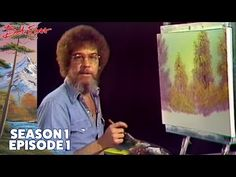 Bob Ross - A Walk in the Woods (Season 1 Episode 1 Bob Ross Paintings, Happy Paintings, Bob Ross Episodes, Full Episodes, Bob Ross Youtube, Bob Ross Art, Happy Little Trees, The Joy Of Painting, Choppy Bob Hairstyles