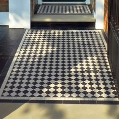 Photos featuring our design, consultation and sheeted tile supply. Victorian, Edwardian, Georgian and contemporary ceramic tile designs. Victorian Front Garden, Victorian Hall, Ceramic Floor Tiles, Tile Floor, Tiles London, Hall Tiles, Hall Flooring, Tile Installation, Entry Foyer