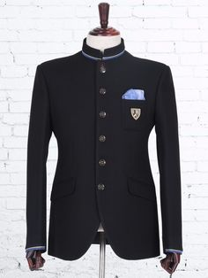 Shop Black knitted  wedding jodhpuri suit online from G3fashion India. Brand - G3, Product code - G3-MCO0101, Price - 11995, Color - Black, Fabric - Terry Rayon,