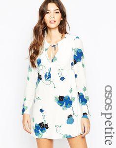 ASOS+PETITE+Babydoll+Dress+in+Vintage+Print