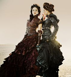 ruffles and leather, soft and tough.  i'd wear this on a winter's evening to meet my prince charming on his motorcycle.