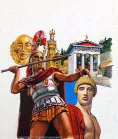 The Golden Age of Greece (Original) (Signed) art by Roger Payne