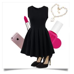 """Black And Pink💗"" by lucia-romero-12 ❤ liked on Polyvore featuring Essie, Givenchy and Chicnova Fashion"